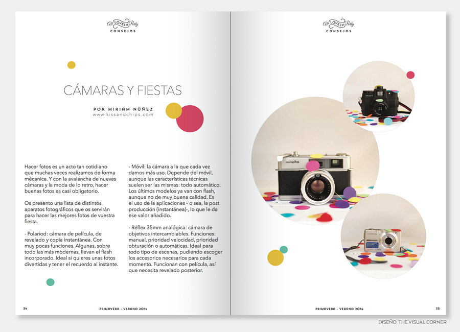 Maquetación y diseño de la revista All Lovely Party