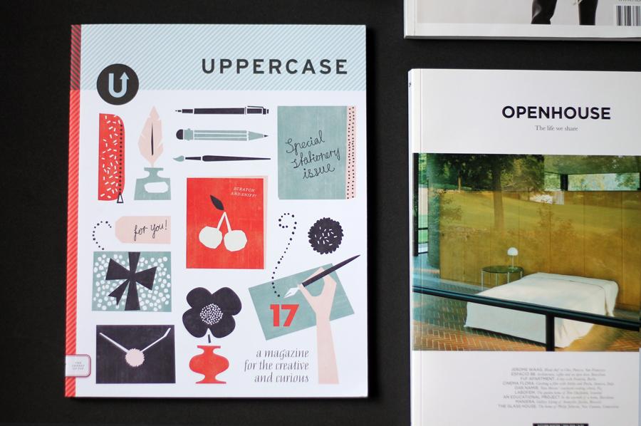 Uppercase stationary magazine