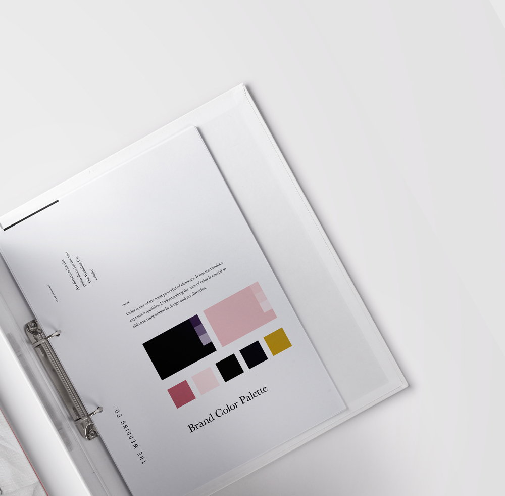 Brand colors The Wedding Co. by The Visual Corner