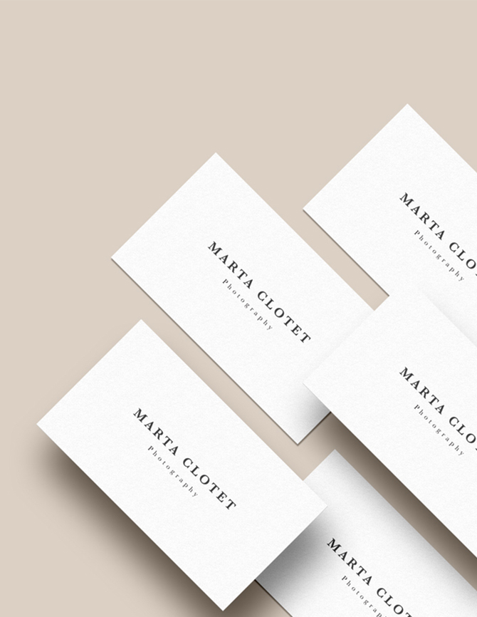 Branding design by The Visual Corner studio for Marta Clotet Photography